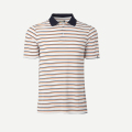 KJUS MEN LUIS MULTICOLOR STRIPE POLO S/S WHITE