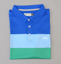 KJUS MEN LUAN CB POLO S/S BLUE/LIGHT BLUE/GREEN