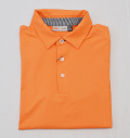 KJUS MEN SOREN SOLID POLO S/S ORANGE
