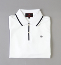 BRIEFING RIB LINE POLO SHIRTS WHITE