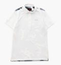 BRIEFING PARTS B-CAMO WC POLO SHIRTS WHITE