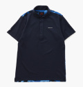 BRIEFING PARTS B-CAMO WC POLO SHIRTS NAVY