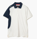 BRIEFING ASYMMETRY PERFORMANCE POLO SHIRTS WHITE