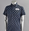 Tranvi TRSHB-022 BD Dot Print Shirts Navy