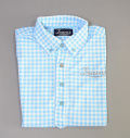 Tranvi TRSHB-034 BD Original Check Shirts Sax Blue