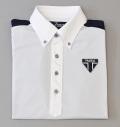 Tranvi TRSHB-038  Contrast Back Stripe BD Shirts White/Navy