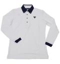 Tranvi TRSHB-045  BD Long Sleeve White/Navy
