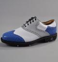 Footjoy Icon Custom 52040 White Smooth/Millennium Silver/Blue Elephant