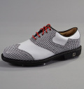 Footjoy Icon Custom 52040 White Smooth/Houndstooth
