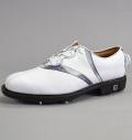 Footjoy Icon V-Saddle BOA #52042 White Smooth/White Gator/Sterling Cloud Grey