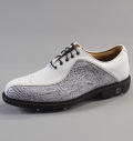 2018 FootJoy Icon Custom Asymmetrical #52180 White Smooth/Blue-Black Lizard