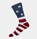 FootJoy ProDry Crew Patriotic Flag Stripes