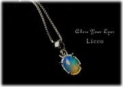 Licco エチオピアオパールネックレス オーバル