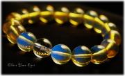 レアな石達 奇跡のブルー ブルーアンバー 10mm玉ブレスレット 画像1