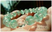 レアな石達 若緑色の幻想 マダガスカルグリーンファントムクォーツ 8mm玉ブレス 画像1