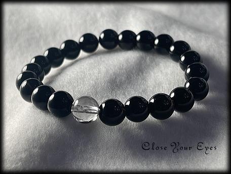 ハイパーエナジーブレス チベタンモリオン/黒水晶 8mm 画像1