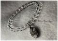 ムオニオナルスタ隕石 クリスタル ブレスレット(ギベオン隕石)