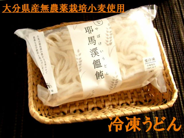 国産(大分県産)無農薬栽培小麦100% 冷凍耶馬渓うどn