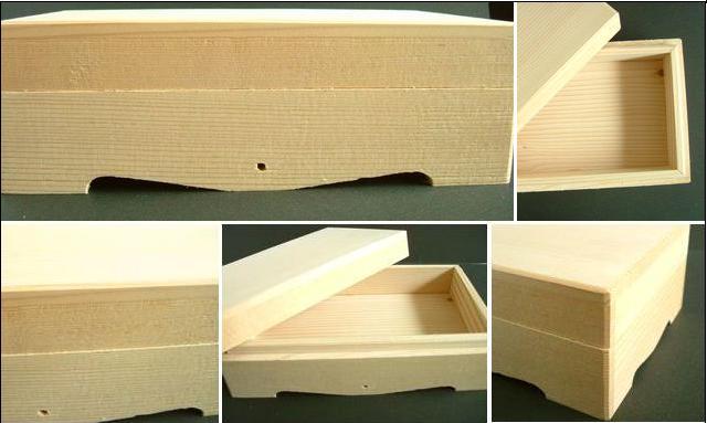 職人の仕事が光る木箱入り!なら材を使用し、国産和風木箱