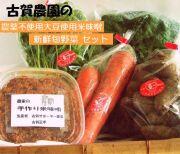古賀農園 手作り米味噌と有機JAS季節の野菜セット 【無添加食品・自然食品】
