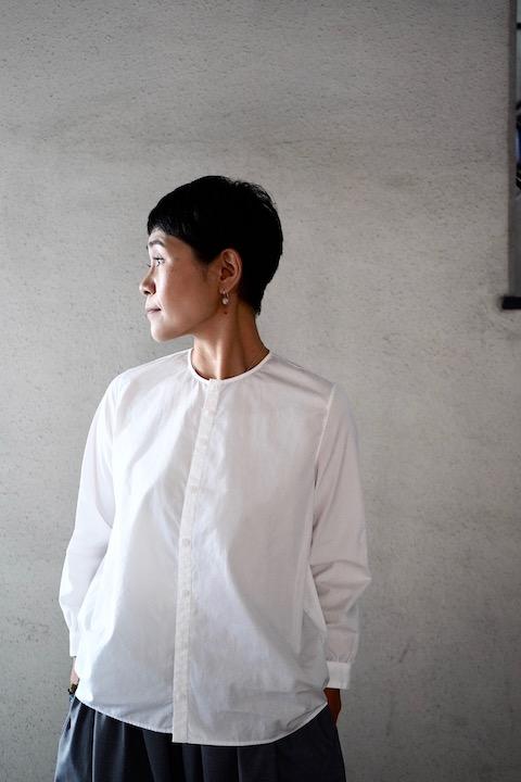 NO CONTROL AIR コットン高密ブロード9分袖シャツ