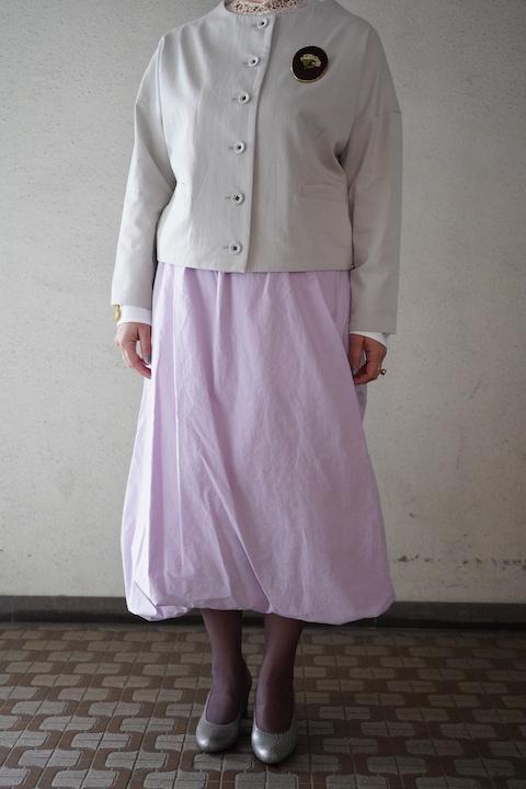 susuri 姉妹伴 東炊きタイプライタークロス バルーンマーチスカート