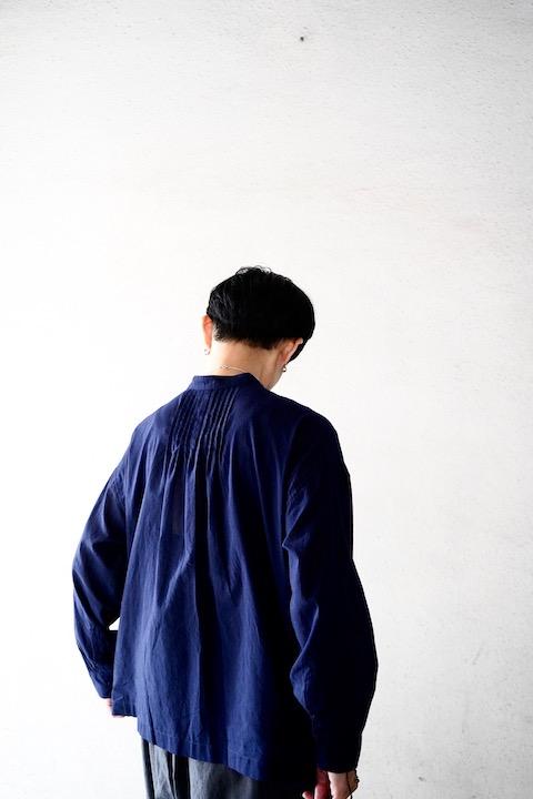 maison de soil  カディ後ろピンタックシャツ