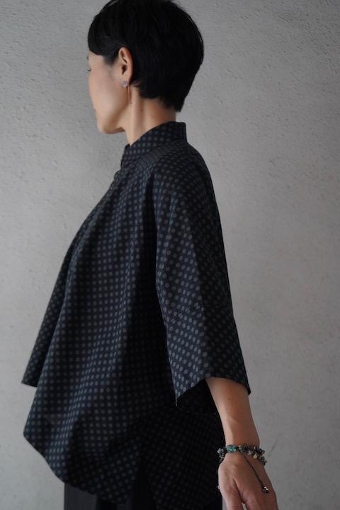 FACTORY コットンドット半袖シャツ