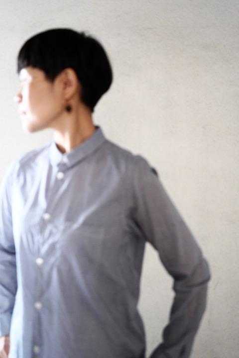 ゴーシュ  コットンブロード襟付きシャツ