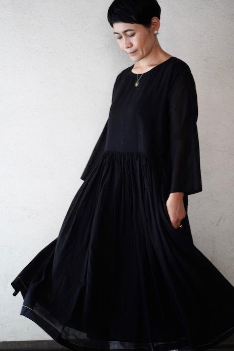 maison de soil  ジャムダニ刺繍織り ドットプルオーバードレス