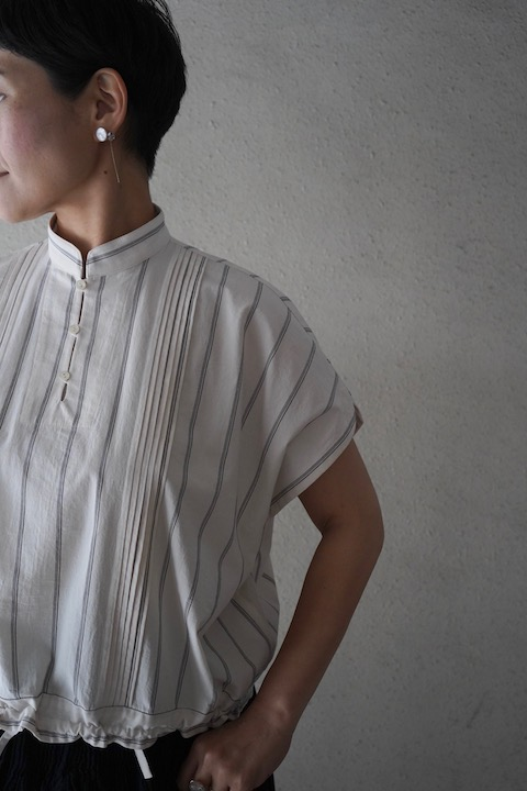 ASEEDONCLOUD working blouse stripe