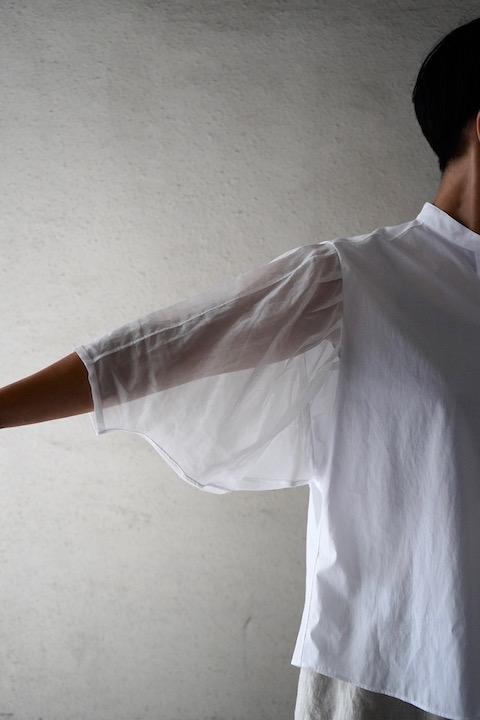 HAVERSACK シースルー袖ふんわりシャツ