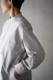 HAVERSACK ヘアラインストライプロングシャツ