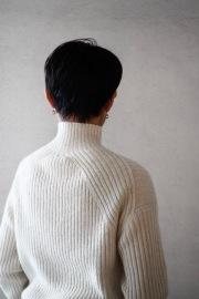 FACTORY WOOLリブタートルセーター