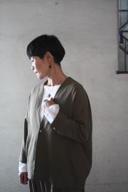 NO CONTROL AIR ポリエステルツイル羽織りジャケット