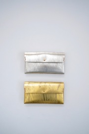 【再入荷】safuji ミニ長財布(シルバー、ゴールド)
