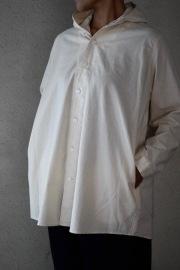 FIRMUM ラフコットンシーチングシャツパーカー