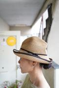 mature ha. BOXハット 9cmブリム 縁ラインハット アナベル別注(グログラン細リボン)