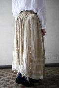ARTE POVERA リメイクUSチノトラウザー×アフガンストールMIXスカート