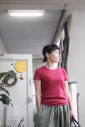 fabrique en france コットンフライス半袖Tシャツ