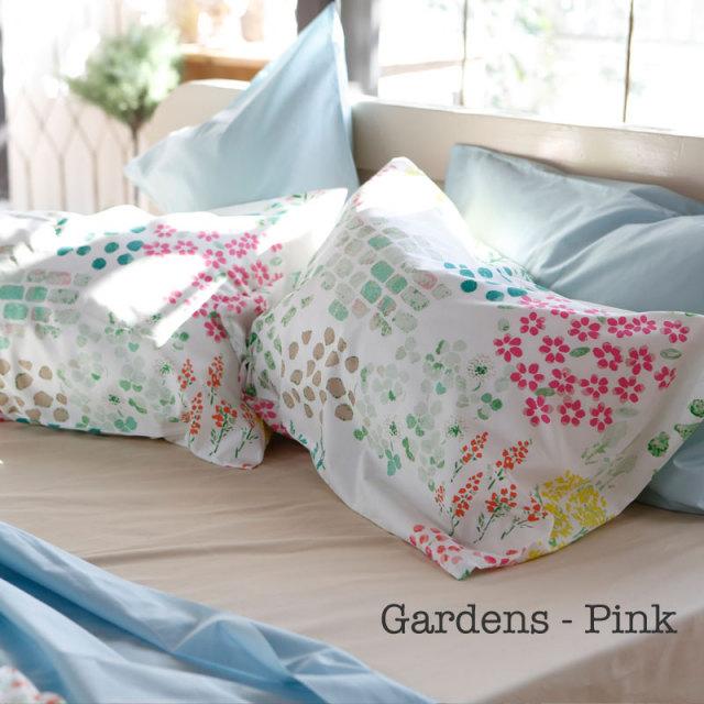 ガーデンズ ピンク 枕カバー