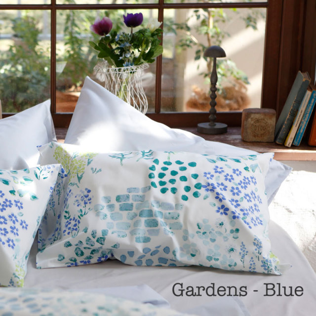 ガーデンズ ブルー 枕カバー