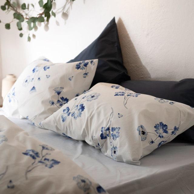 ボタニカ/ネイビー 枕カバー
