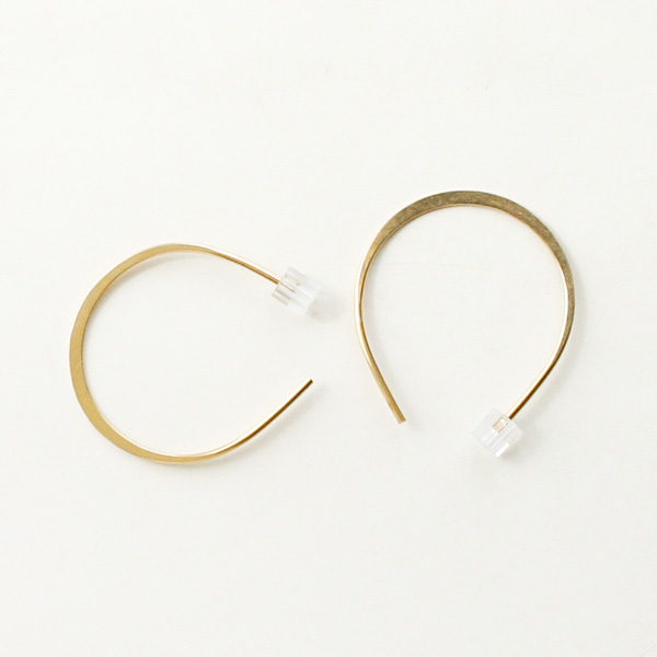 MELISSA JOY MANNING/medium horse shoe hoops