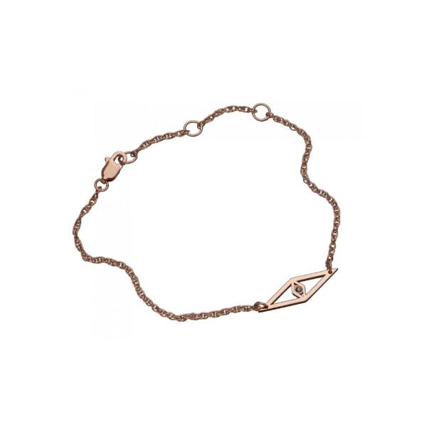 【10周年期間限定セール!】 jennifer zeuner/Raquel mini -B Bracelet/Gold