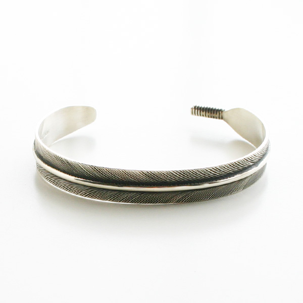 HARPO/BR08/Small Feather Bracelet in Silver
