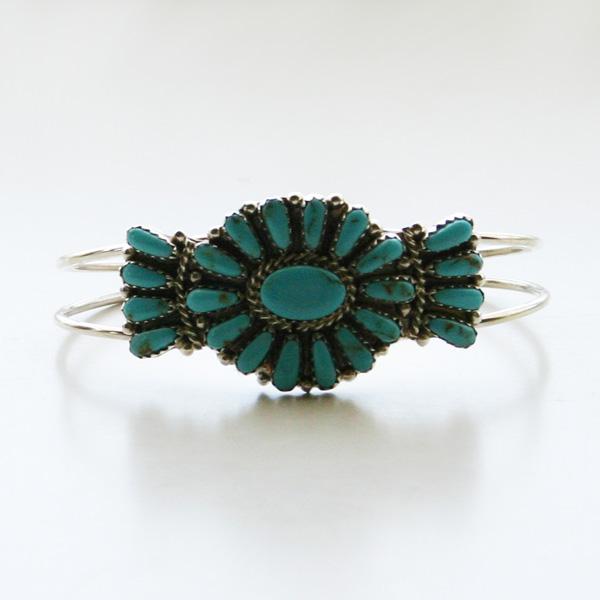 HARPO/BR14/Small Turquoise Flower Bracelet
