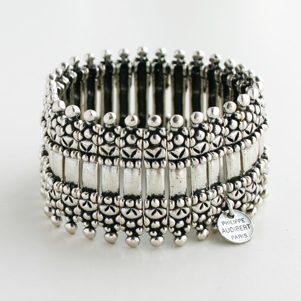 【予約販売/8末再入荷予定】 PHILIPPE AUDIBERT/Verona metal cuff silver color