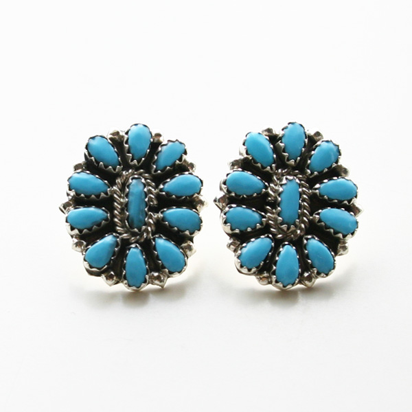 HARPO/FLOWER EARRINGS ER05/BO06 TURQUOISE