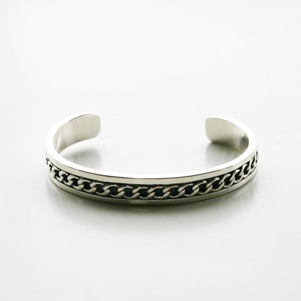 PHILIPPE AUDIBERT/Chain bracelet S, brass silver color,